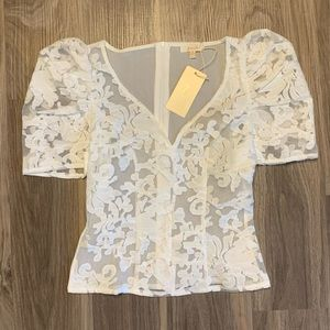 New Peach Lace Blouse